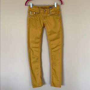 Miss Me Yellow Skinny Jeans
